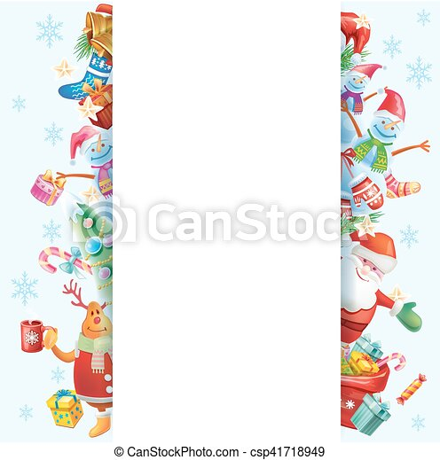 Frame for Christmas card - csp41718949