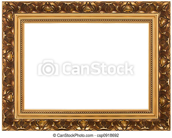 Frame for painting. Frame for painting, on a white... stock photo ...