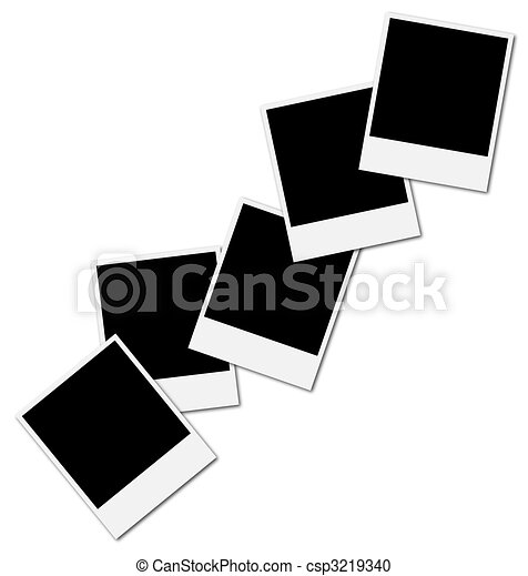 Frame for photo collage. Five blank frames ready to insert photos ...