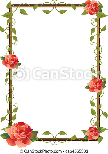 frame for picture with rose - csp4565503