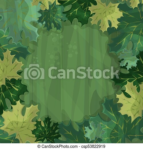 Frame For Text Decoration Enchanted Forest With Green Maple Leaf Cartoon Illustration Canstock There are 12613 cartoon tree for sale on etsy, and they. can stock photo