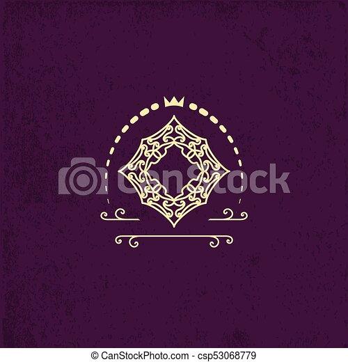 Frame For The Letter Or Monogram Unique Ornament Classic Design