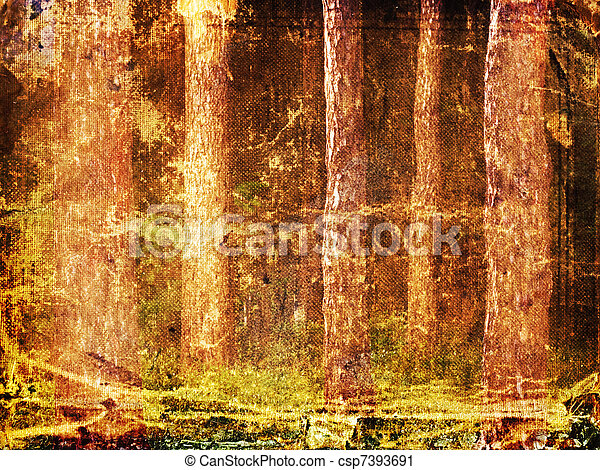 frame forest - csp7393691