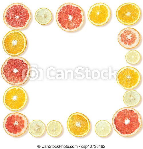 Frame from citrus slices - csp40738462