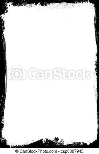 frame, geborstelde, inkt - csp0307945
