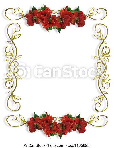 frame, grens, kerstmis - csp1165895