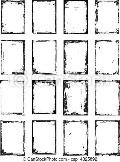 Frame Grunge set - csp14325892