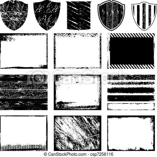 frame, grunge, textuur - csp7256116
