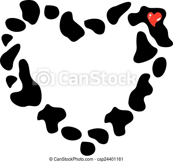 Frame heart of cow spots vector illustration frame heart of frame heart of cow spots vector illustration pronofoot35fo Gallery