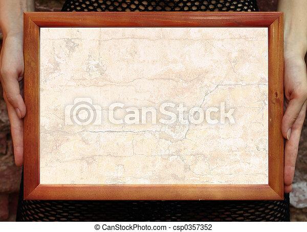 Frame in hands - csp0357352