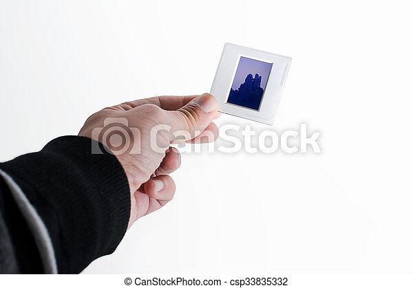 Frame in the hand - csp33835332