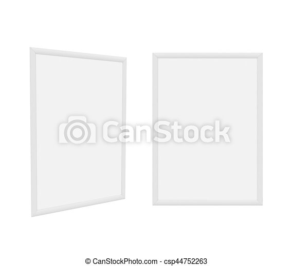 frame Isolated on White Background, 3D rendering - csp44752263
