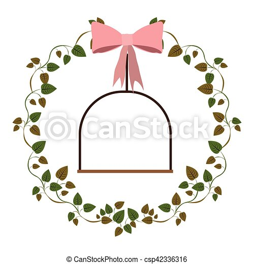 frame ivy leaves with swing - csp42336316