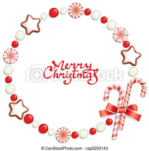 frame, kerstmis, versuikeren - csp5202143