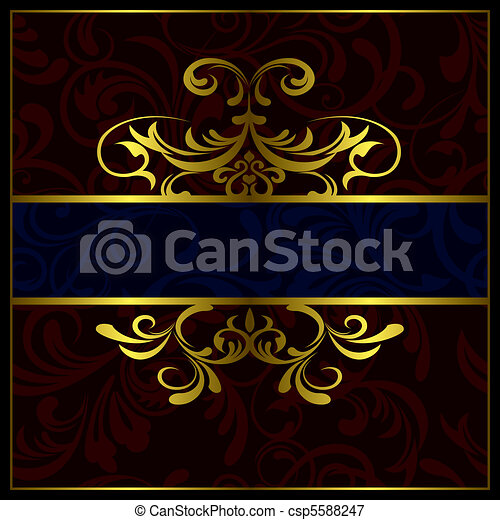 frame, luxe, abstract - csp5588247