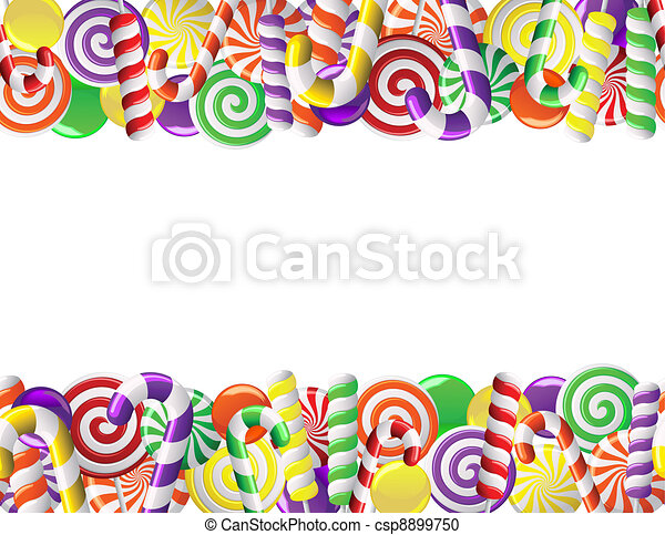 Frame made of colorful candies - csp8899750
