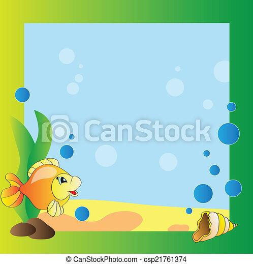 Frame - marine life - csp21761374