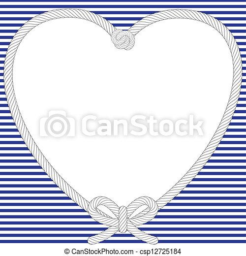frame, nautisch, valentijn - csp12725184