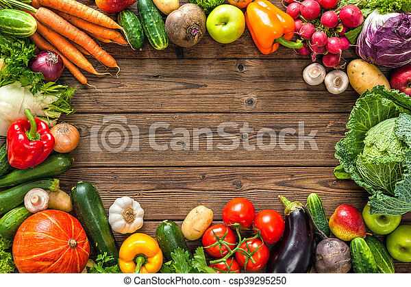 Frame of assorted fresh vegetables - csp39295250
