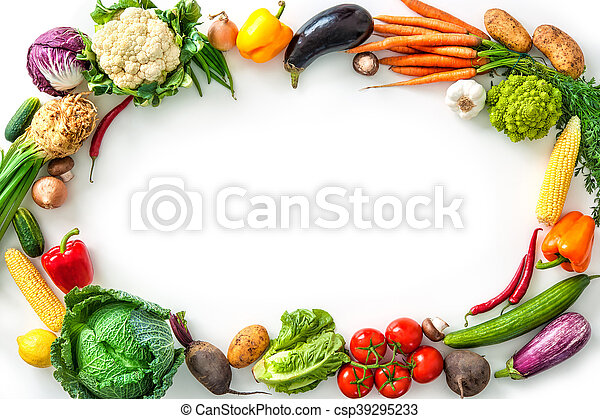 Frame of assorted fresh vegetables - csp39295233