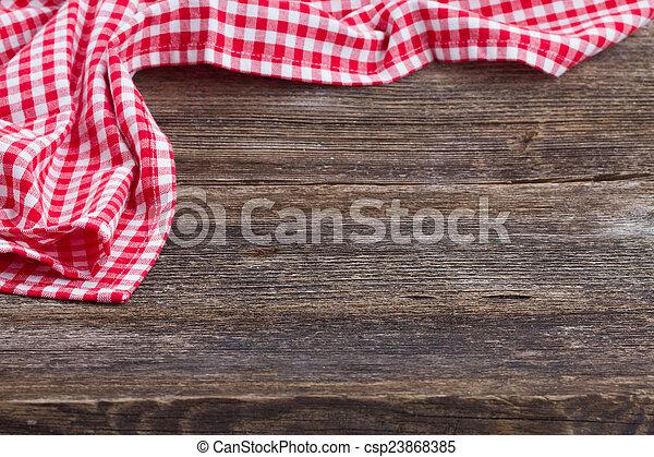 frame of  blue  napkin - csp23868385