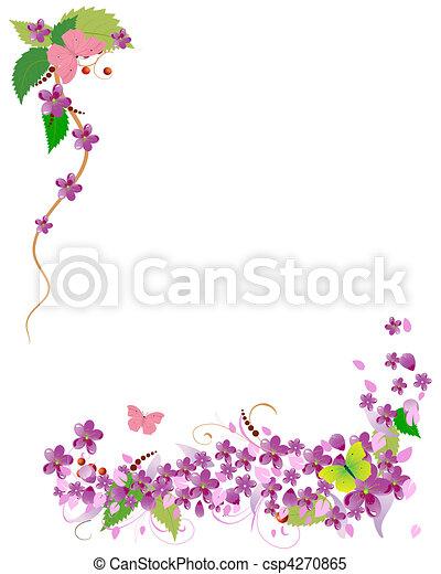 frame of cherry blossoms - csp4270865