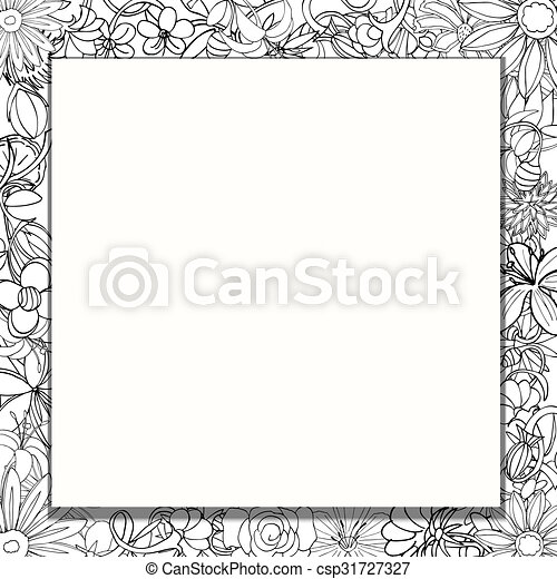 frame of flowers - csp31727327