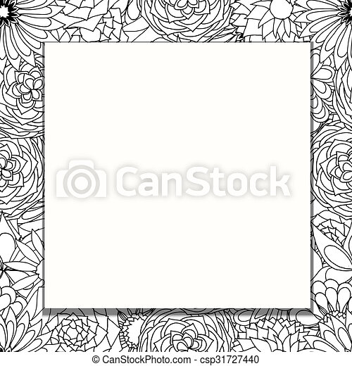 frame of flowers - csp31727440