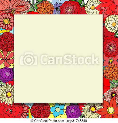 frame of flowers - csp31745848