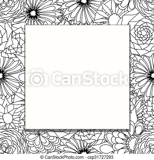 frame of flowers - csp31727293