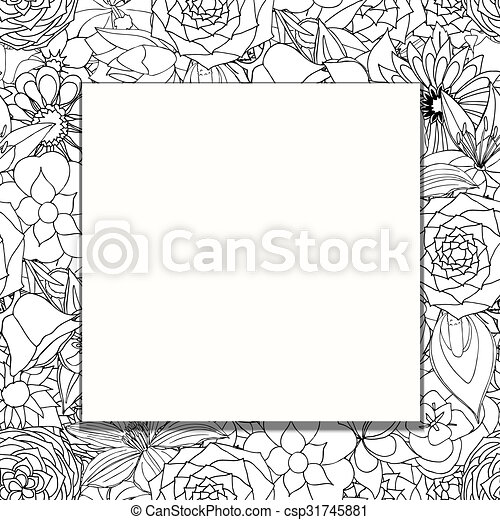 frame of flowers - csp31745881