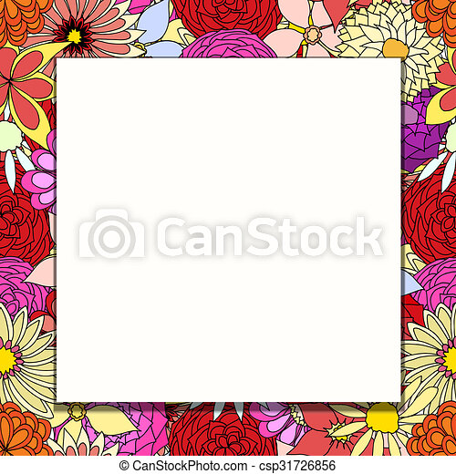 frame of flowers - csp31726856