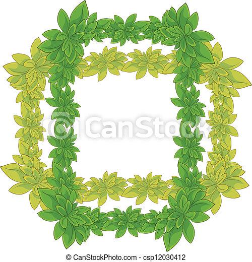 Frame of leaves - csp12030412