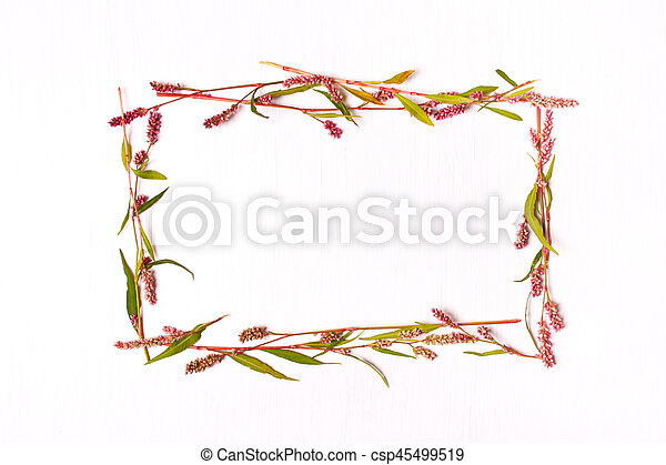 Frame of pink color for inscriptions - csp45499519