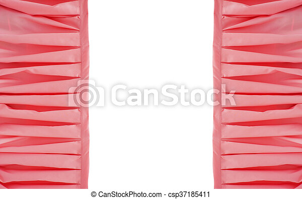 frame of pink draped fabric with a place for your text - csp37185411