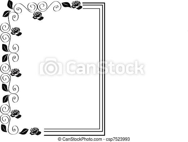 Frame of roses - csp7523993