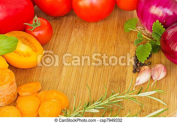 frame of vegetables - csp7949332