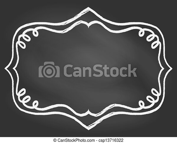Frame on chalk borard - csp13716322