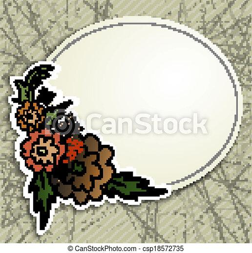 Frame on old paper - csp18572735