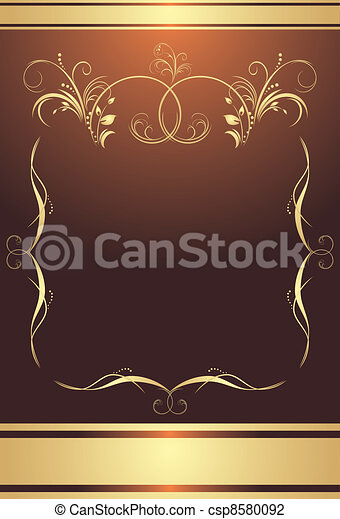 Frame on the brown background - csp8580092