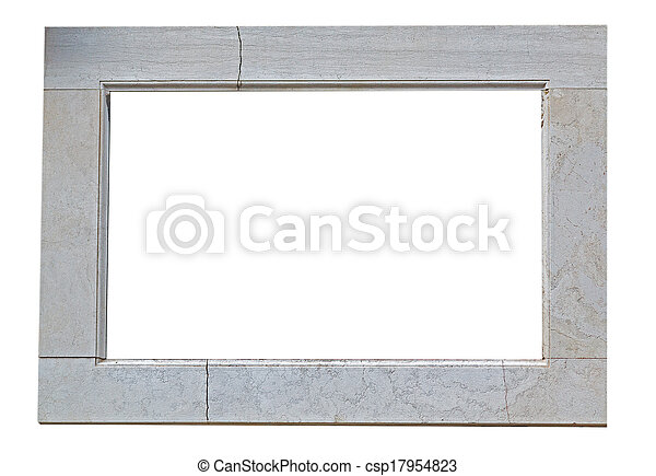 frame on white - csp17954823