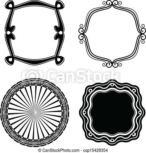 Frame Set ornamental. Vector - csp15428354