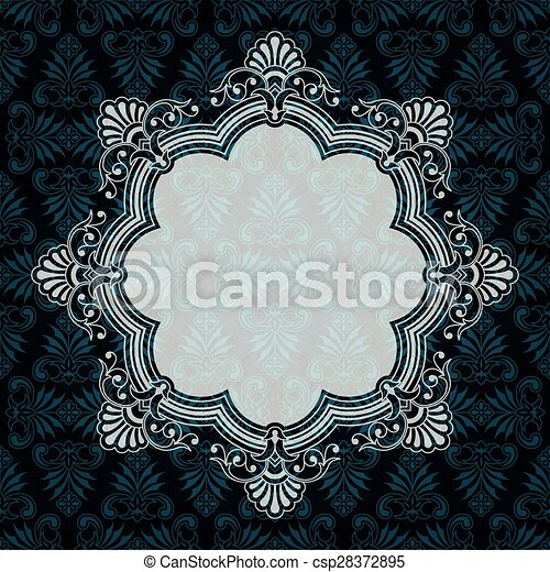frame, sierlijk, vector, achtergrond, textured, grens - csp28372895