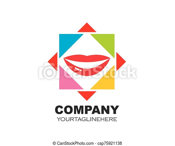 frame square with lips vector icon illustration - csp75921138