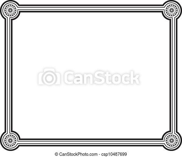 frame, vector - csp10487699