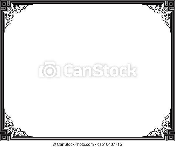frame, vector - csp10487715