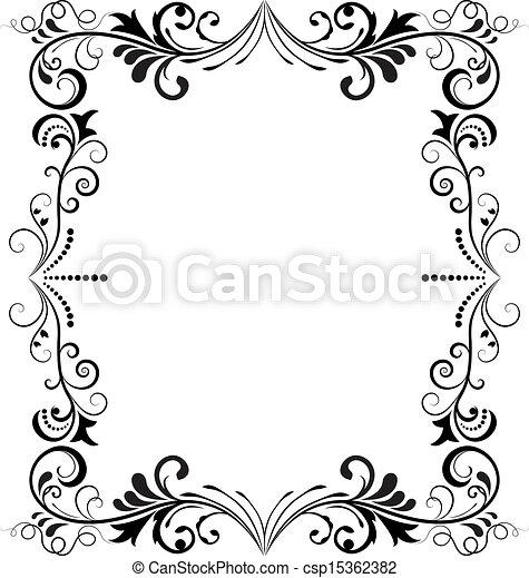 Fabuleux Vecteur de frame., vertical, vendange, vecteur, noir, blanc  JX08