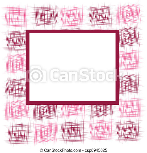 Frame with abstract squares - csp8945825