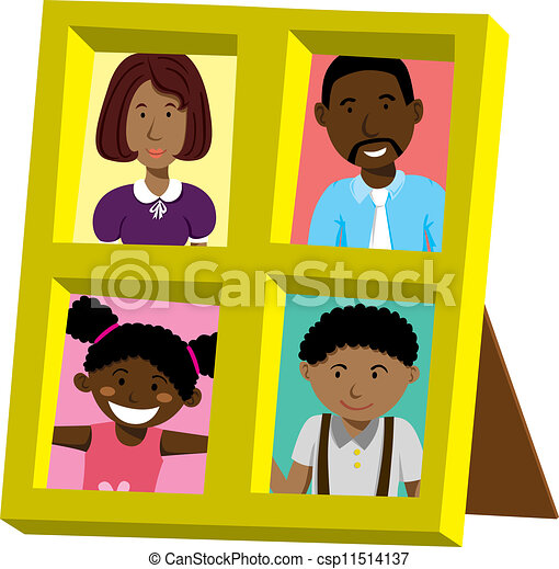 Frame With African Family Portrait