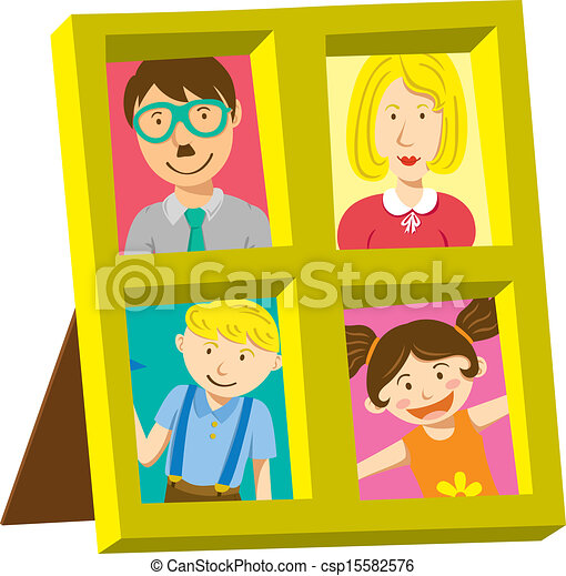 Frame With American Family Portrait